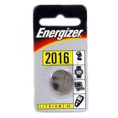 Energizer勁量CR2016水銀電池3V鋰電池(吊卡1入)