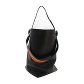 HERMES 愛馬仕 黑色牛皮馬缰套索造型肩背包 水桶包 Licol Hermes 17 Bag 【二手名牌BRAND OFF】