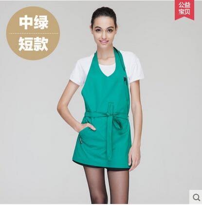 圍裙韓版時尚工作服廚房家居做飯男女圍腰廚師咖啡店定制工作圍裙
