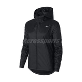 Nike 外套 Essential Running Jacket 黑 白 女款 連帽外套 運動休閒 【ACS】 CU3218-010