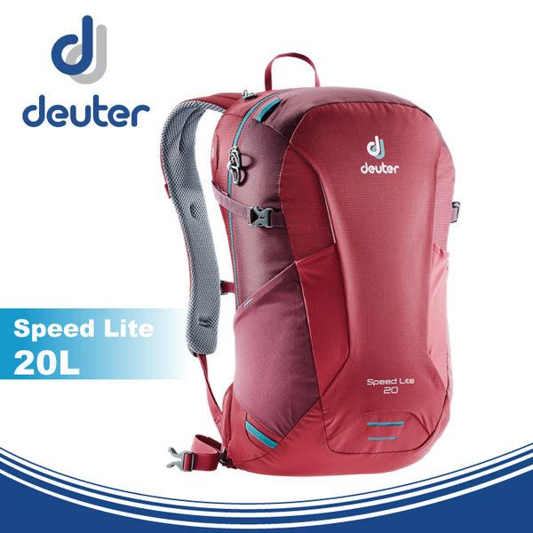 【Deuter 德國 Speed Lite 20L 輕量透氣登山背包《莓紅/紫紅》】3410218/雙肩背包/後背包/攻頂包★滿額送