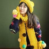 圍巾+毛帽+手套羊毛三件套-韓版糖果多彩加絨加厚防寒配件組合71an21[巴黎精品]