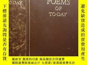 二手書博民逛書店1931年-罕見POEMS OF TO-DAY 著名詩集《今日詩