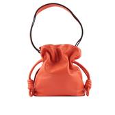 【LOEWE】流蘇小羊皮斜背包(粉橘色) 展示品 LO14000009