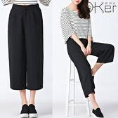 顯瘦高腰版型視覺增高百搭素色寬褲 O-Ker LL68175-C