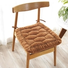 坐墊冬季毛絨坐墊椅子學生宿舍凳家用餐桌座椅墊做墊套加厚方形可拆洗LX春季新品