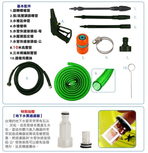 [ 家事達]Reaim-  HPi1700 螺牙式 高壓清洗機