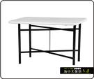 {{ 海中天休閒傢俱廣場 }} C-99 摩登時尚 餐桌系列 464-03 3X3尺鋼板餐桌/烤黑高腳