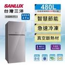 SANLUX台灣三洋 冰箱 480L變頻2門電冰箱 SR-C480BVG 原廠配送及拆箱定位