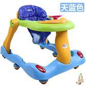 學步車防側翻嬰兒童學步車6/7-18個月寶寶多功能U型助步車帶音樂可折疊xw