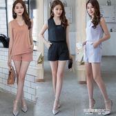 夏無袖背心上衣 短褲休閒套裝女裝時尚兩件套潮  凯斯盾数位3C