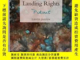 二手書博民逛書店Landing罕見Rights Poems by David Jaffin (美國詩歌) 英文原版書Y1770