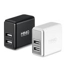 [哈GAME族]免運 可刷卡 台灣製造 兩色任選 MINIQ AC-DK49T 3.4A智慧型數字顯示充電器 雙USB萬用充電器