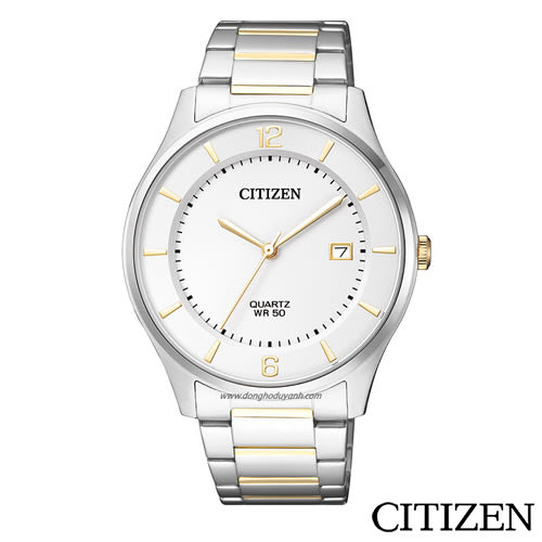 CITIZEN星辰  雙色日期顯示石英男仕手錶  BD0048-80A