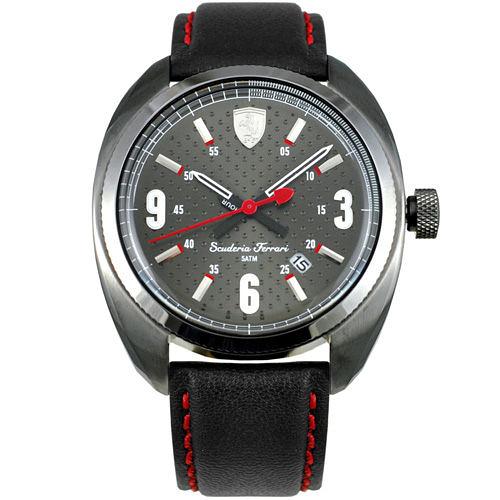 FERRARI Formula Sportive經典黑鋼灰面時尚腕錶/43mm/0830207