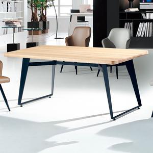 【YFS】亞摩斯原木實木6尺餐桌-180x90x75cm