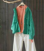 牛仔衣毛邊短外套寬鬆上衣/設計家Y8940