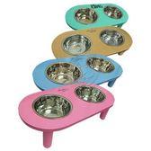 【培菓平價寵物網】 TenderCare《寵物工學設計架》木製雙槽狗碗餐桌