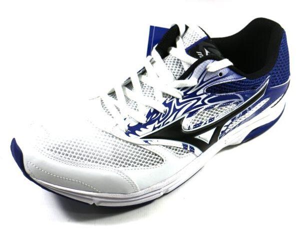 [陽光樂活] MIZUNO 美津濃 WAVE EMPEROR TR2 (男) 路跑鞋 - J1GA178610 藍x白