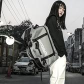 潮牌原創大容量雙肩包書包男時尚潮流背包女韓版校園休閒旅行情侶