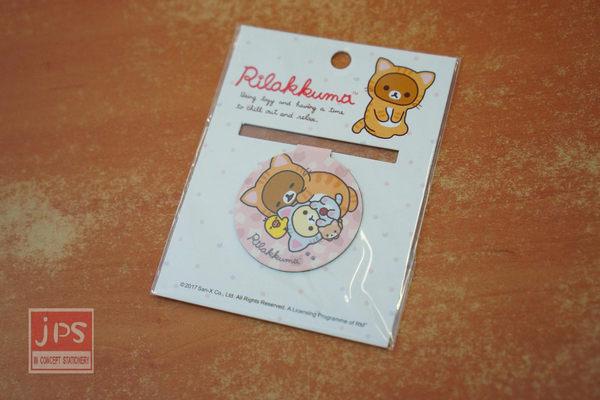 拉拉熊 Rilakkuma 造型 磁鐵書夾 書籤 貓咪