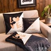 辦公室抱枕被子兩用珊瑚絨汽車靠墊沙發午睡空調枕頭車載毯小靠枕CY『小淇嚴選』