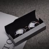 高檔金屬拉絲紋理鏡眼鏡盒男女士個性正韓創意簡約輕便攜復古  一件免運