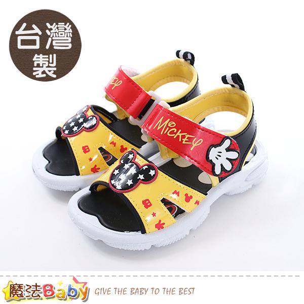 男童鞋 台灣製迪士尼米奇正版涼鞋 魔法Baby