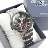 EDIFICE EQS-920DB-1A 立體感3D錶盤太陽能電力腕錶 不銹鋼 黑x紅 EQS-920DB-1AVUDF CASIO卡西歐