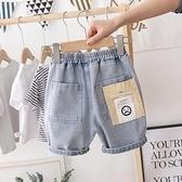 男童牛仔短褲 男童夏季五分牛仔褲洋氣新款兒童寶寶薄款短褲小男孩褲子潮-Ballet朵朵