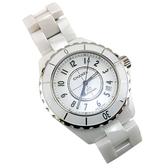 【奢華時尚】秒殺推薦!CHANEL J12 38MM 白色陶瓷自動機械腕錶(九五成新)#23920