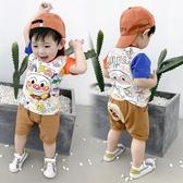 男童夏裝嬰兒童裝1-3歲男小童洋氣套裝寶寶夏季短袖兩件套韓版潮2 【快速出貨】