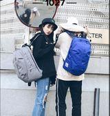 現貨 運動雙肩後背包包休閒帆布包學生書包戶外旅行包男女【奈良優品】