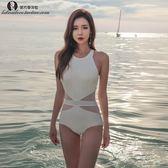 游泳衣女性感連體三角大胸小胸聚攏修身遮肚顯瘦溫泉新款韓國泳裝·  9號潮人館