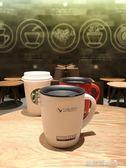 馬克杯 杯子女學生韓版馬克杯帶蓋勺保溫咖啡創意潮流不銹鋼辦公室水杯in  歐萊爾藝術館