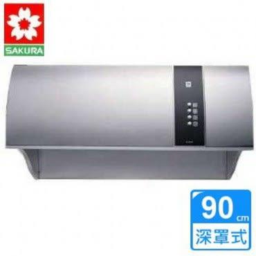 【櫻花】R-3550SXL健康取向不鏽鋼除油煙機(90CM)