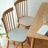 坐墊溫莎椅餐椅墊北歐實木椅子座墊馬蹄形家用四季透氣棉麻椅墊 快速出貨