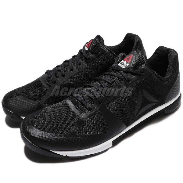 Reebok 訓練鞋 R CrossFit Speed TR 2.0 黑 白 健身專用 運動鞋 男鞋【PUMP306】 BS8098