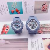 情侶對錶   新款情侶電子手錶學生男女士韓版簡約潮流氣質休閑防水運動款一對