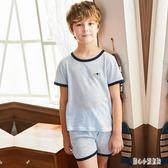 兒童睡衣棉質男孩夏天薄款套裝中大童男童寶寶夏季小孩短袖家居服cp1945【甜心小妮童裝】