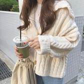毛衣女校園秋冬外穿 秋季外套 寬鬆 長袖針織開衫外套 超值價