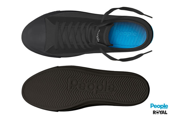 PEOPLE 新竹皇家 The Phillips 黑色 網布 輕量 休閒鞋 男女款 NO.A8063