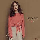 東京著衣【KODZ】時髦主角級單品綁帶設計上衣-S.M.L(181974)