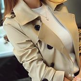 裝雙排扣風衣女中長版正韓修身大尺碼外套女式大衣 全館免運