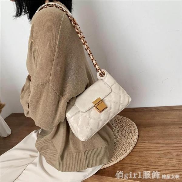 斜背包 女包2020新款春百搭時尚今年流行小包包單肩斜背包錬條 開春特惠