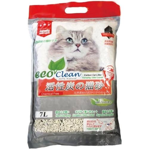 【寵物王國】EcoClean艾可豆腐貓砂-活性碳7L