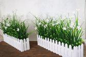聖誕預熱   仿真綠色植物花草 假花塑料花 桌面隔斷擺放花藝 墻角遮擋柵欄花  居享優品