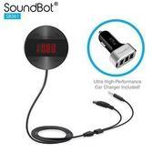 音源轉換廣播 美國聲霸SoundBot SB361 FM LCD面版操控 車用音樂接收播放器,無藍芽