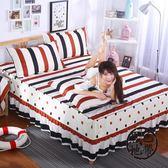 床罩床裙床套單件韓式公主床蓋床單床笠1.8/1.5/2.0米  ~黑色地帶