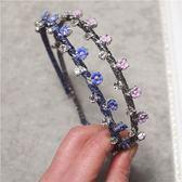 鑲鑽髮圈(任兩件)-經典復古花朵造型女髮箍3款73gi31[時尚巴黎]
